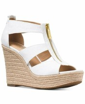 MICHAEL Michael Kors Damita Wedge Optic White Shoes Size 10 - $84.99