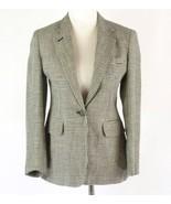 RALPH LAUREN Size 6 Petite 6P Navy Checked Linen Blazer Jacket - $12.99