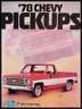 1978 Chevy Chevrolet Pickup Truck Brochure MINT ORIG! - $11.86