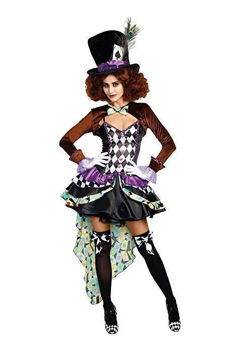 Primary image for Dreamgirl Raving Hatter Madness Storybook Adult Womens Halloween Costume 11162