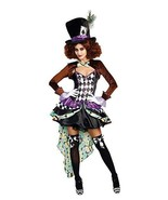 Dreamgirl Raving Hatter Madness Storybook Adult Womens Halloween Costume... - $55.95