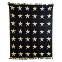 BLACK STAR Woven Throw - 60x50 -  Country Farmhouse - Black/Tan - VHC Brands