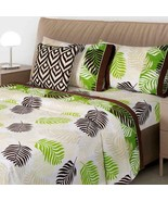 Chamaedorea Palm Leaves Sheet Set KING SIZE 4PCS Sheets and Pillowcases - $80.18