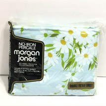 Vintage Morgan Jones Percale Floral Daisy Full Double Fitted Sheet NEW N... - $24.95