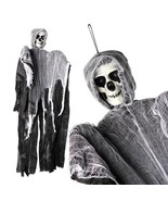 Creepy Skeleton Face Hanging Ghost Halloween Decoration Horror Props 100... - $10.00