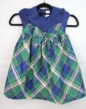 Gymboree Tout-Petits Robe Fille Manche Courte Vert Bleu Taille 4T - $12.36
