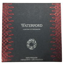 Waterford Crystal 2018 Mini Wreath Christmas Ornament New in Box 40031778 image 3