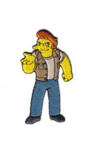 The Simpsons Snake Jailbird Criminal Figure Embroidered Patch NEW UNUSED - $7.84