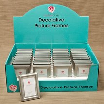 120 Decorative Brushed Silver Picture Frames with Beaded Inner Border - $135.24