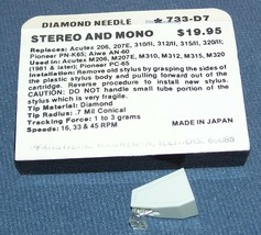 NEEDLE STYLUS for Sanyo Fisher ST-37D MG-37D 371D 47D Aiwa AN60 PNK65 image 2