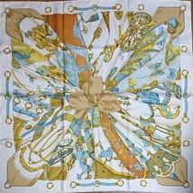 Hermes Carre 90 Scarf Stole Soleil de Soie by Latham Silk 100% Woman Auth Rare - $369.01