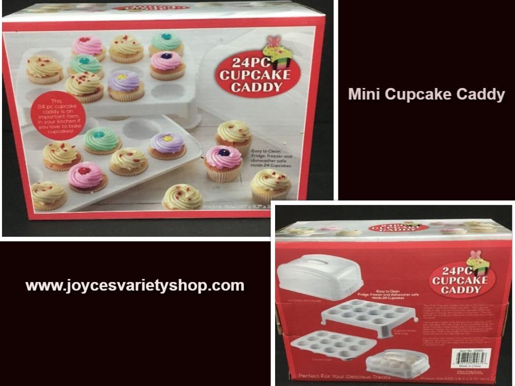 Cupcake caddy web collage