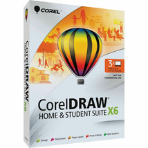 Corel CorelDRAW Home & Student Suite X6 -3 Users Software f Windows CDHS... - $159.99