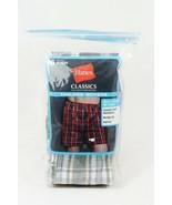 Hanes Plaid Multi Color Men's 5 Tagless Boxers Comfort Flex Waistband Size Small - $33.75