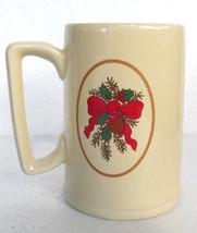 1987 Hallmark Big Smile Stein Christmas Collectible Ceramic Coffee Mug- ... - $11.99
