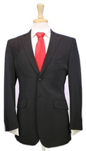 *  OZWALD BOATENG * Bespoke Couture Solid Black 2-Btn Techno Fabric Suit... - $175.00
