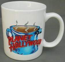 "Planet Hollywood Ceramic Coffee Cup 11 ounces 3.75"" tall white unchipped... - $24.74"
