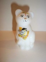 Fenton Glass Fall Chickadee Birds Mini Kitten Cat Figurine FAGCA Ltd Ed ... - $174.12