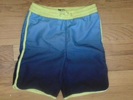 Boys Gap Kids Swim Trunks 2 Side Pocket 1 Back-ElysianBlueYellow Trim-Drawstring - $6.49