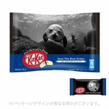Japanese Kitkat Nestle Chocolates Save the Blue Ocean Pack 11  bars From... - $14.13