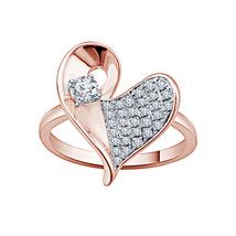 Antique Leave Design Engagement Ring 14k Rose Gold Finish 925 Sterling S... - $67.99