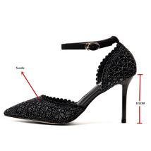 Shoes Party FEDONAS Sexy Toe Classics Stiletto Women Wedding Rhinestone Pointed qY7qX