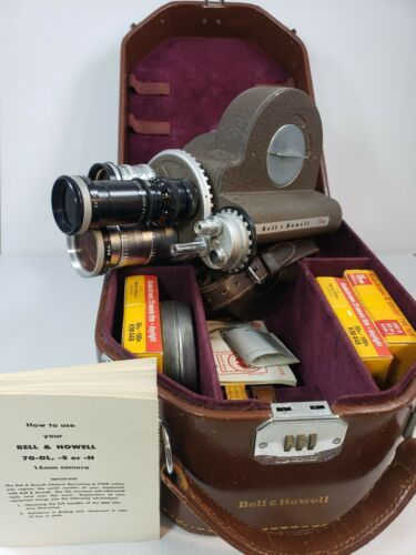 Bell & Howell 70 DR Movie Camera W/ 3 Lens Include Case Film Taylor Hobson