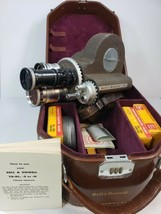 Bell & Howell 70 DR Movie Camera W/ 3 Lens Include Case Film Taylor Hobson - $480.85