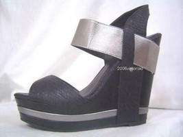 New Kenneth Cole HOLD Tight Gun Black Wedge Shoes 6.5 8.5 - $79.00