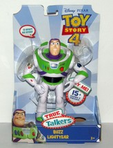 Toy Story 4 True Talkers Buzz Lightyear Action Figure New - $22.98
