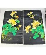 VINTAGE 1987 DAVID WANG WATER COLORS ON SILK FLOWERS AND BIRDS + BONUS - $49.49