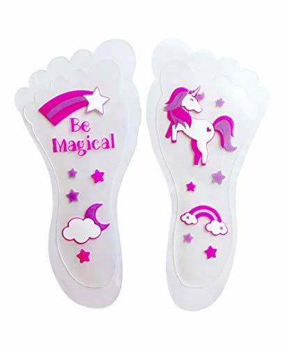 Sticky Feet - Sock and Stockings Feet Grip Stickers - Rainbows and Unicorns