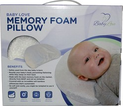 Baby Head Shaping Memory Foam Pillow & Bamboo Pillowcase. Luxury Baby Sh... - $40.36
