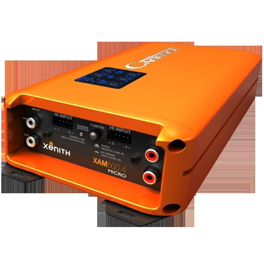 Cadence XAM500.4BT  Hi powered compact 4 CHANNEL BLUETOOTH car amplifier