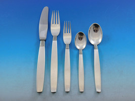 Silver Thread by Hingelberg Danish Sterling Silver Flatware Set Service ... - $8,905.05