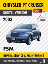 2003 Chrysler PT Cruiser Factory Repair Service Manual - $9.90
