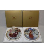 HALLMARK Holiday Traditions Barbie Plate Victorian Elegance LOT Christmas China - $28.99