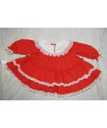 Vintage 80s Bryan Red Ruffles Lace Baby Girl Holiday Party Xmas Dress 3-6 m - $29.69
