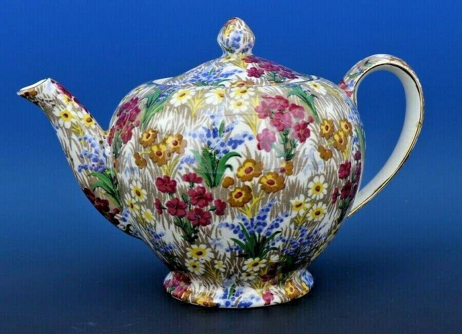 Vintage Royal Winton Marguerite Floral Chintz Teapot