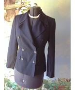 M. T. Morgan Taylor Studio  Long Sleeve Blue Wool Suit Jacket Blazer Size 4 - $33.66