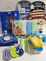 Newborn Baby Boy Mixed Lot Washcloths Socks Caps Scratch Mittens Crawler... - $34.99