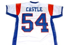 Kevin Castle #54 Blue Mountain State Movie Football Jersey White Any Size image 4