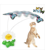Funny Electric Rotating Colorful Butterfly Cat Kitten Toy Pet Scratch Toys - $3.99