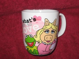 DISNEY STORE Miss Piggy and Kermit Coffee Cup. Brand New. Authentic. Gen... - $19.79