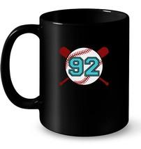 Vintage Baseball Jersey Number 92 Ninety two Gift Coffee Mug - $13.99+
