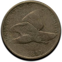 1857 Flying Eagle Head Cent Penny Coin Lot A 293