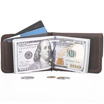 3-in-1 Genuine Leather Mini Wallet (Money clip) for Cash, Cards - $21.99