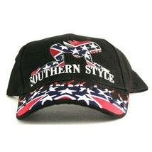 Biker's Ballcap   -  Southern Style in Red, White and Blue on a black ca... - $23.00