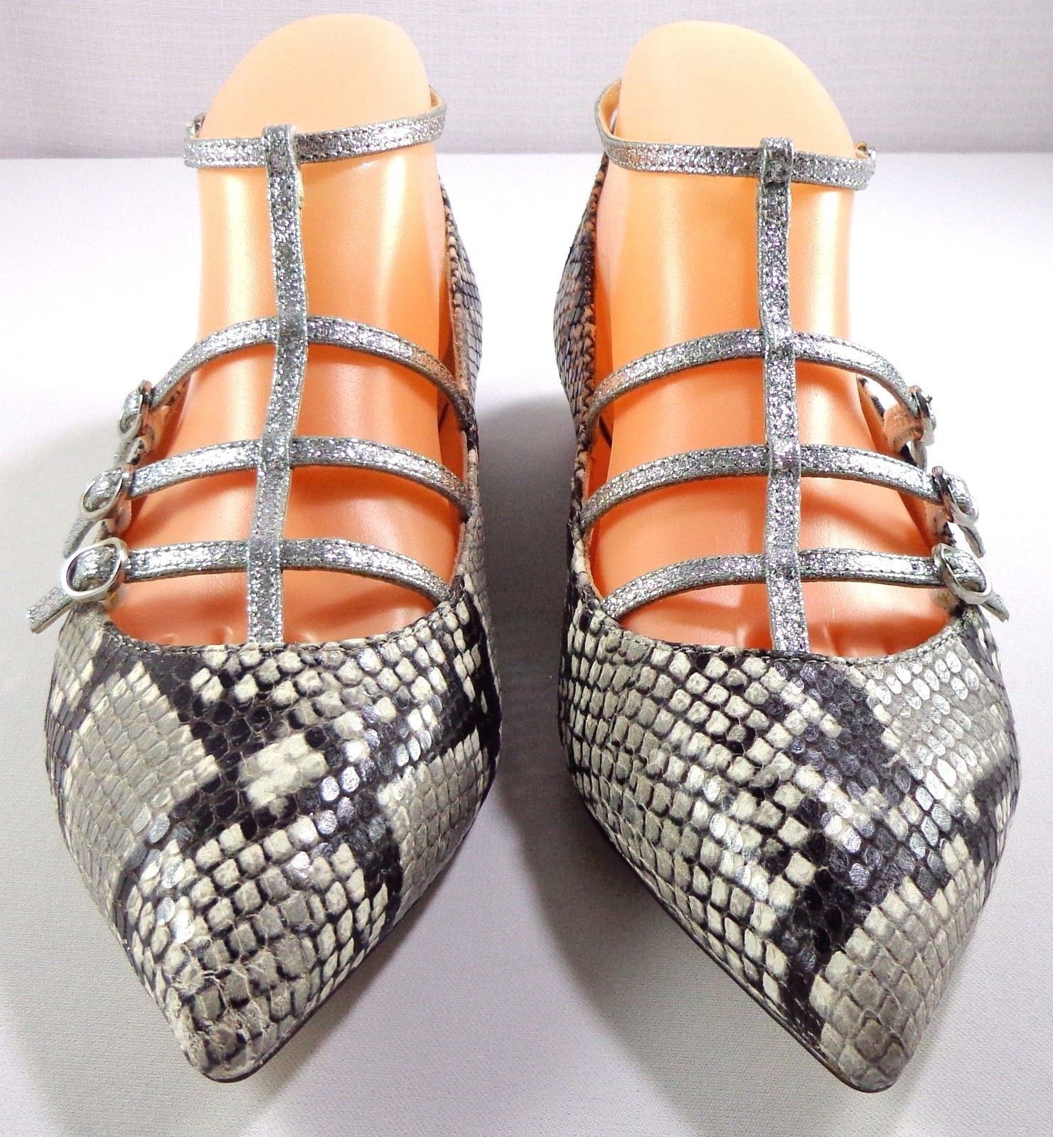 7160728093c8 J Crew Women s Caged Flats in Snakeskin and 50 similar items