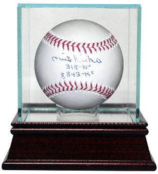 Primary image for Phil Niekro signed Official Major League Baseball dual insc 318 W's, & 3342 K's
